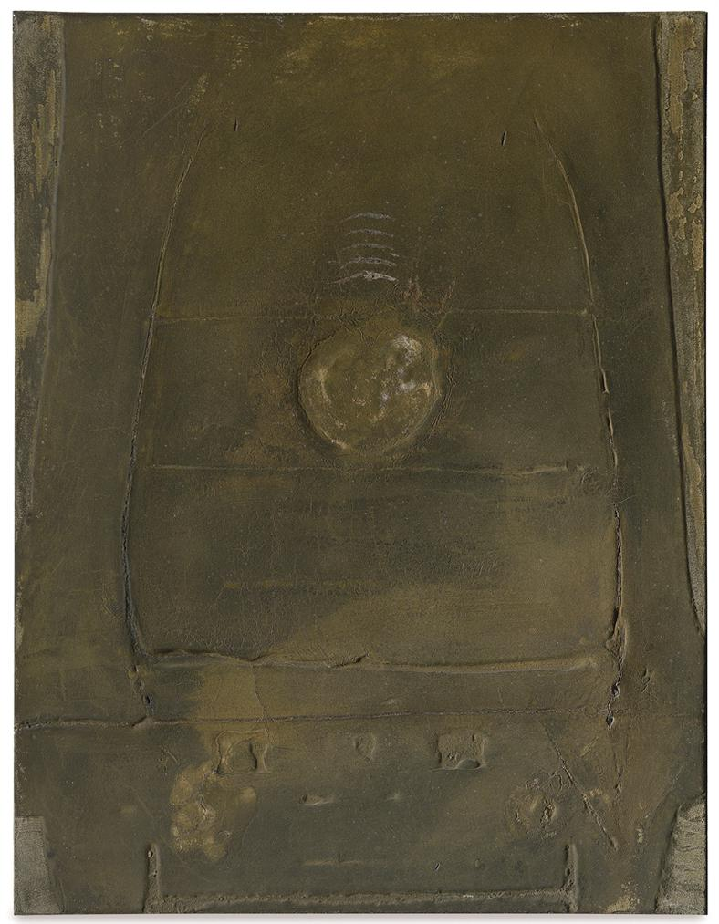 Antoni Tapies-Pintura Marro I Ocre (Brown And Ochre Painting)-1958