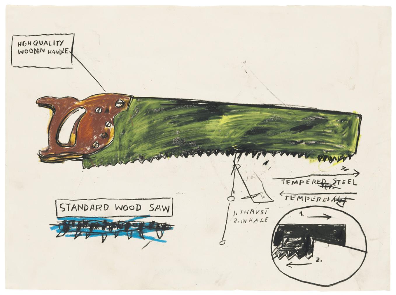 Jean-Michel Basquiat-Standard Saw-1983