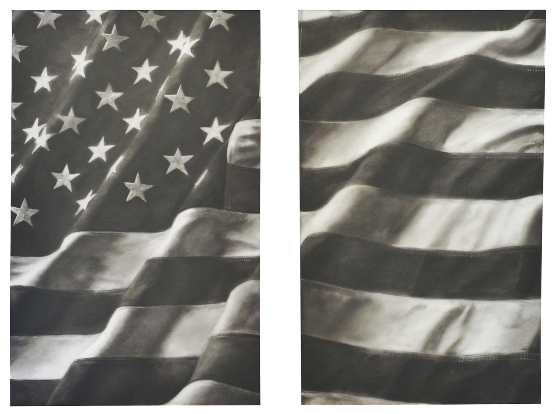 Robert Longo-Study For American Flag (X-1 Diptych)-2011