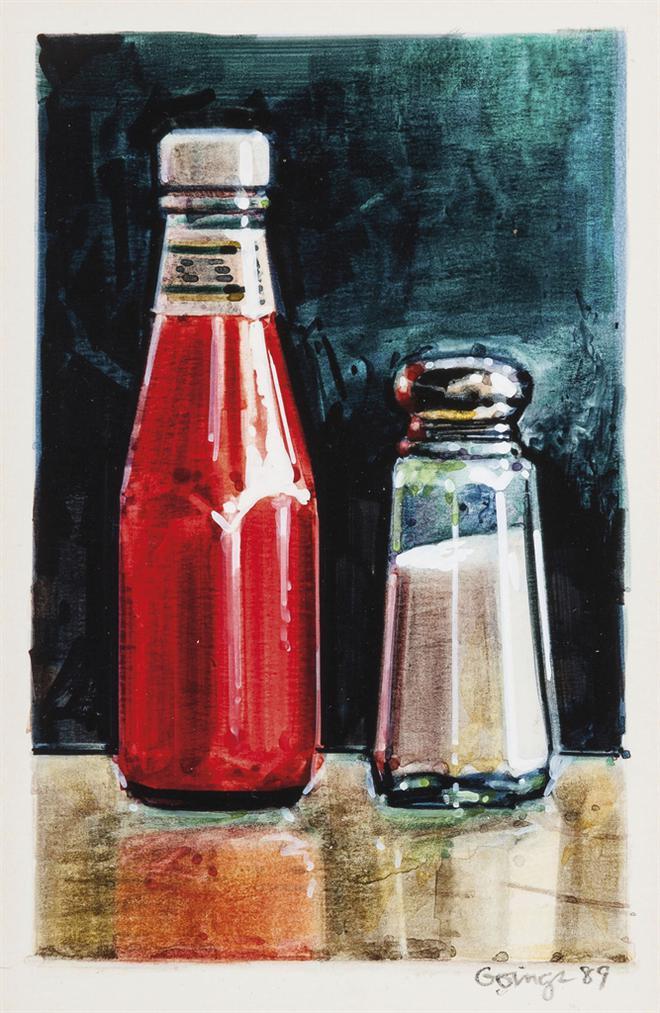 Ralph Goings-Ketchup And Salt-1989