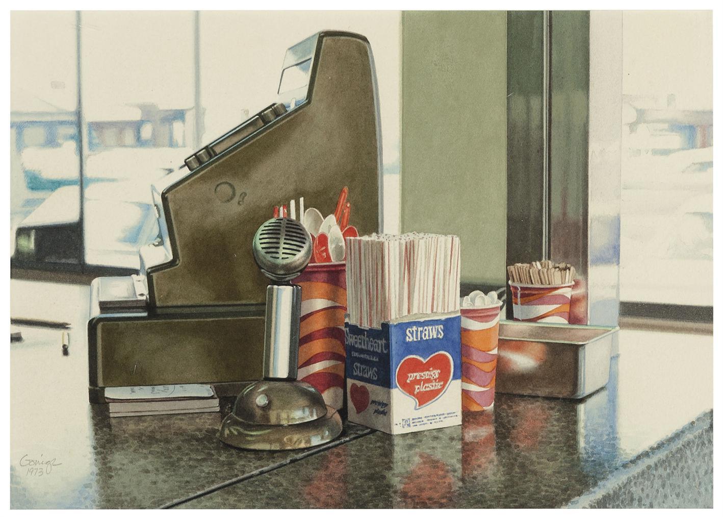 Ralph Goings-Sweetheart Straws-1973