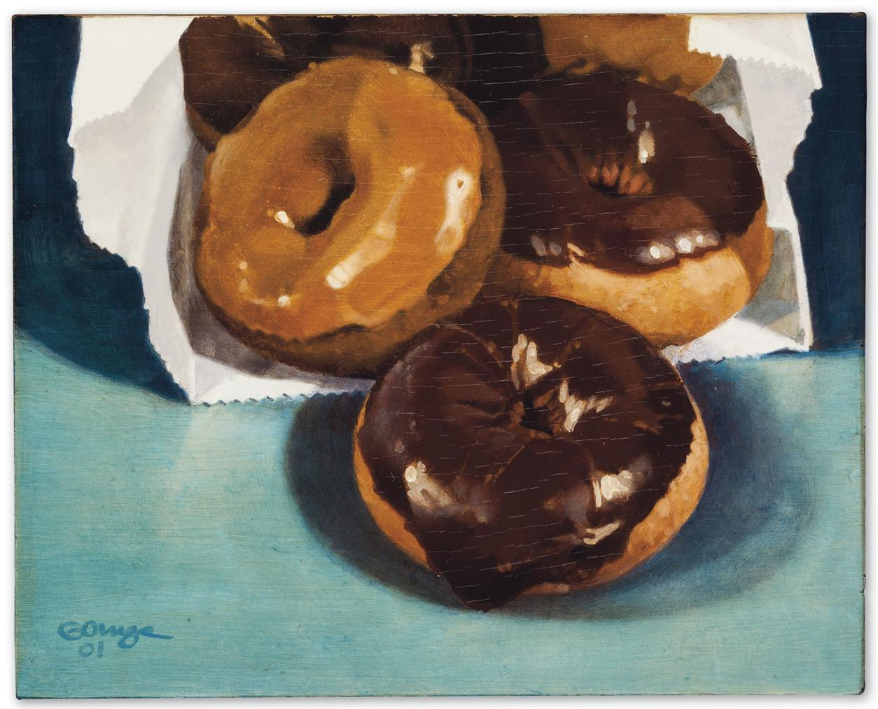 Ralph Goings-Bag Of Donuts-2001