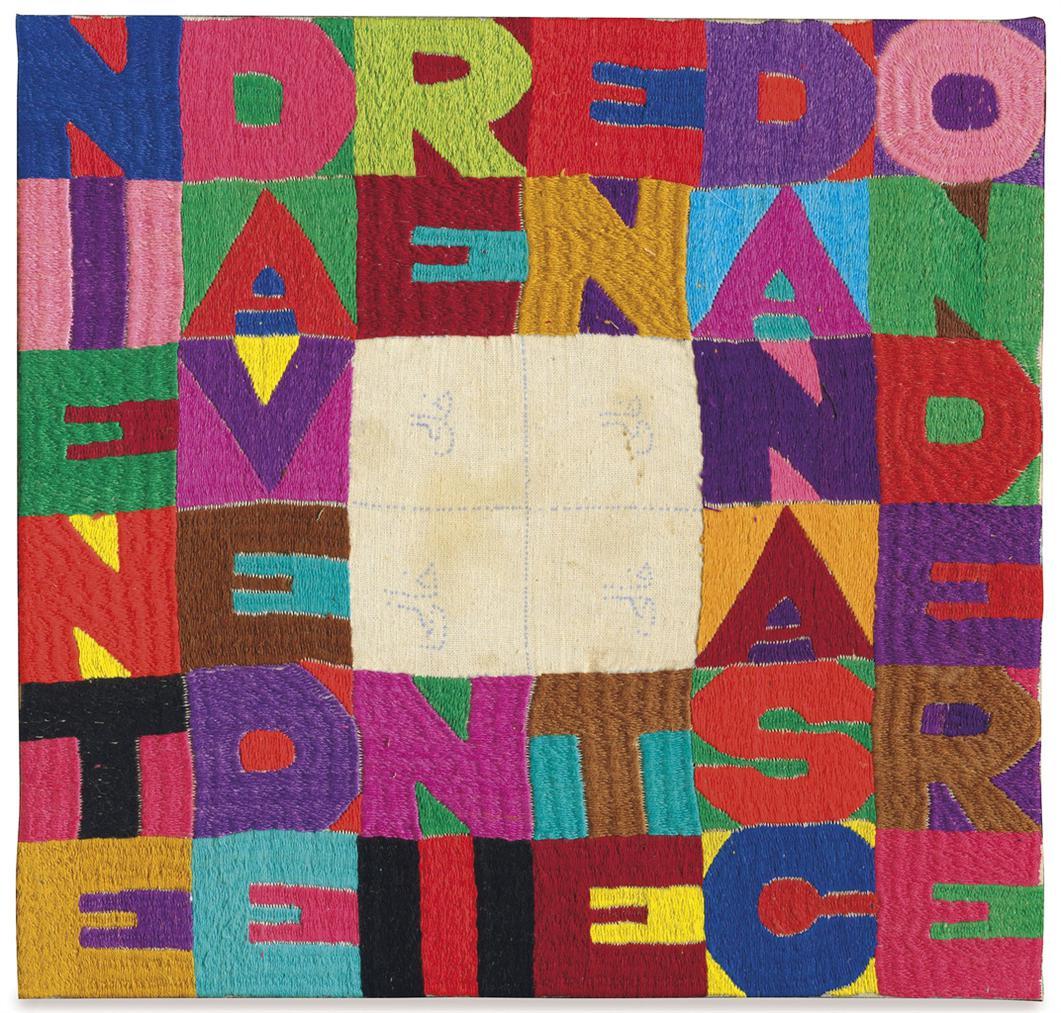 Alighiero Boetti-Niente Da Vedere Niente Da Nascondere (Nothing To Be Seen Nothing To Hide)-1988