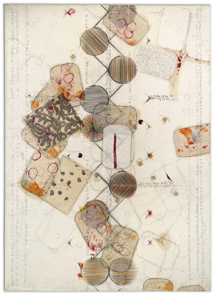 Alighiero Boetti-Senza Titolo (Dove Le Parallele Vanno Ad Incontrarsi...) (Untitled (Where The Paralleles Come Together))-1989