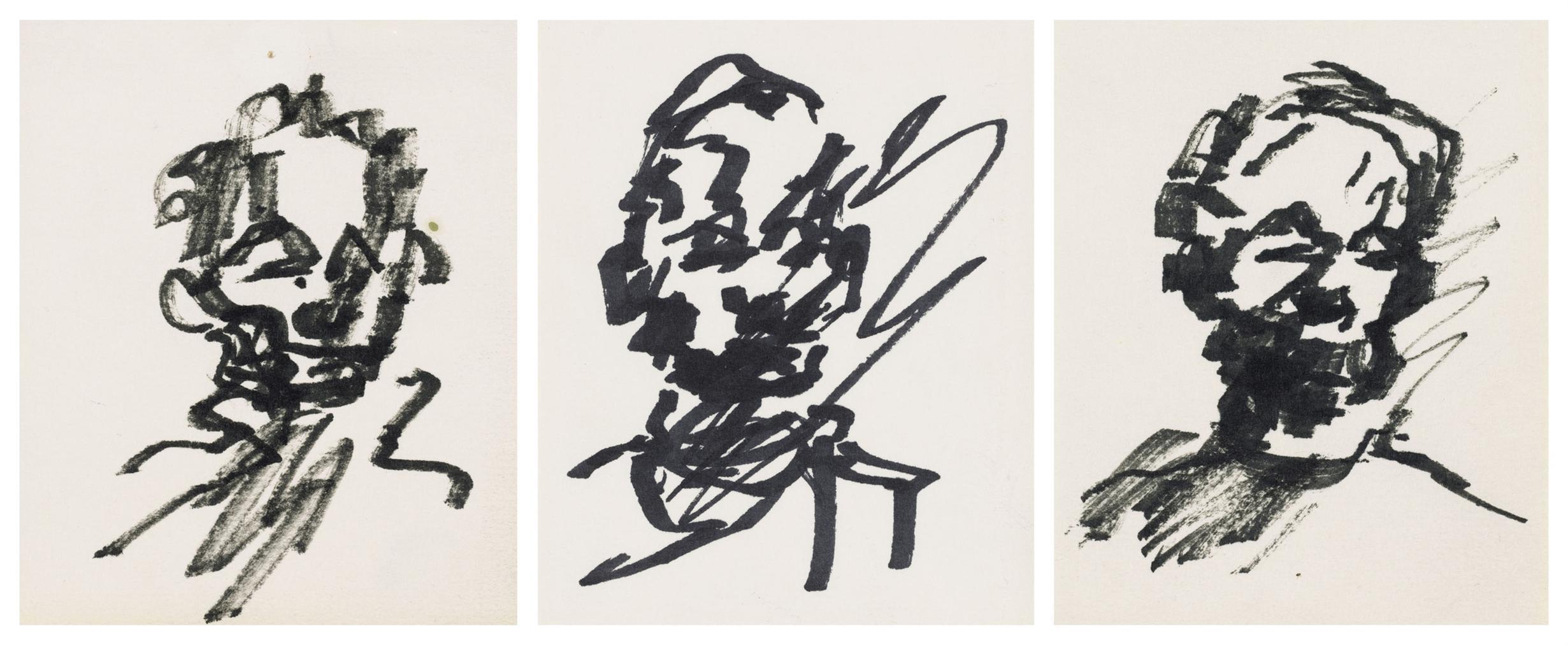 Frank Auerbach-Untitled (Self-Portrait)-