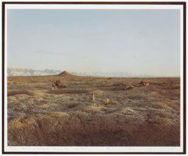 Richard Misrach-Bomb, Destroyed Vehicle And Lone Rock, Bravo 20 Bombing Range, Nevada-1987
