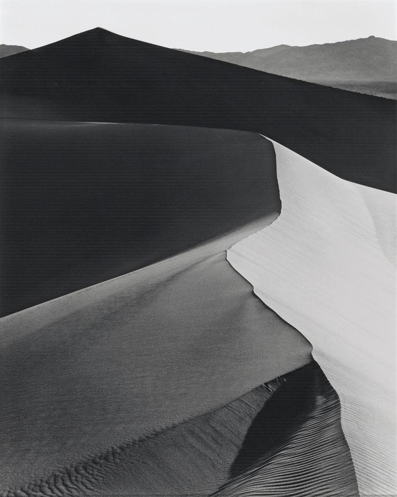 Ansel Adams-Sand Dunes, Sunrise, Death Valley National Monument, California, C. 1948-1948