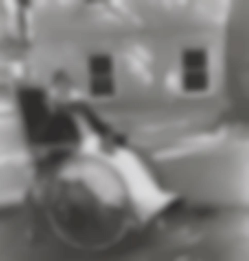Diane Arbus-Masked Woman In A Wheelchair, Pa.-1970