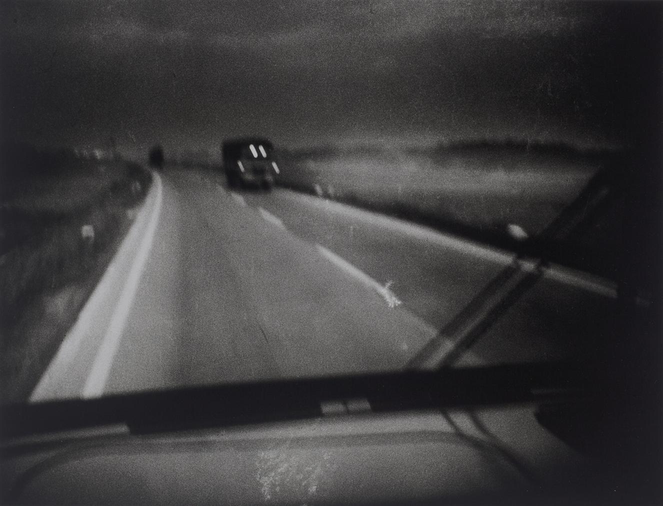 Daido Moriyama-National Highway 1 At Dawn (Around Kougosho, Suburbs Of Kakegawa City, Shizuoka Prefecture)-1968
