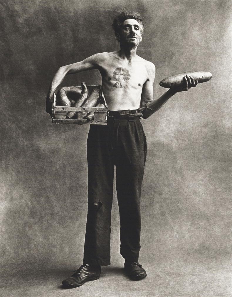 Irving Penn-Marchand De Concombres, Paris-1950