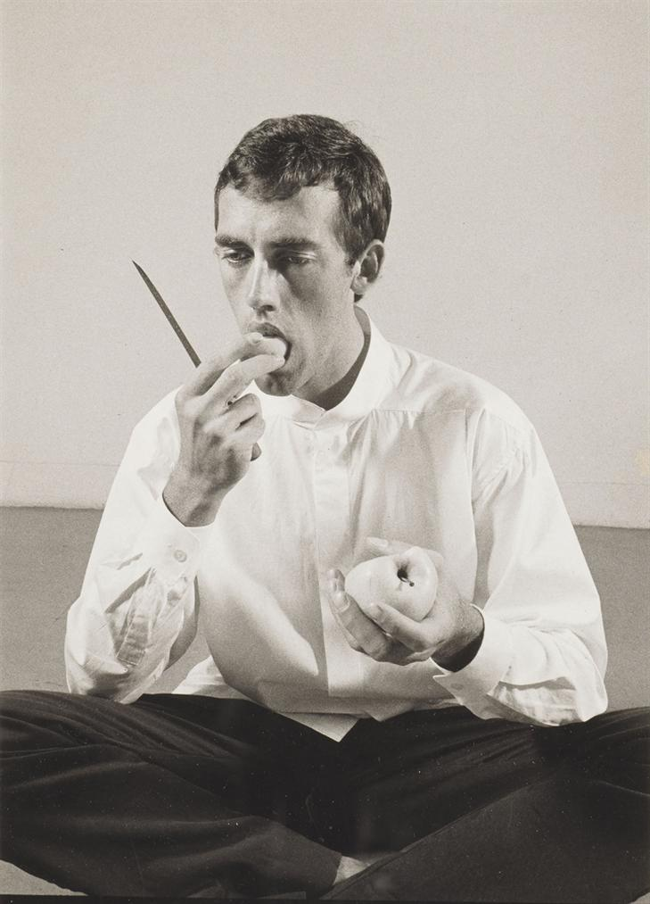 Peter Hujar-Forbidden Fruit (David Wojnarowicz Eating An Apple In An Issey Miyake Shirt) From The Twelve Perfect Christmas Gifts From Dianne B.-1983