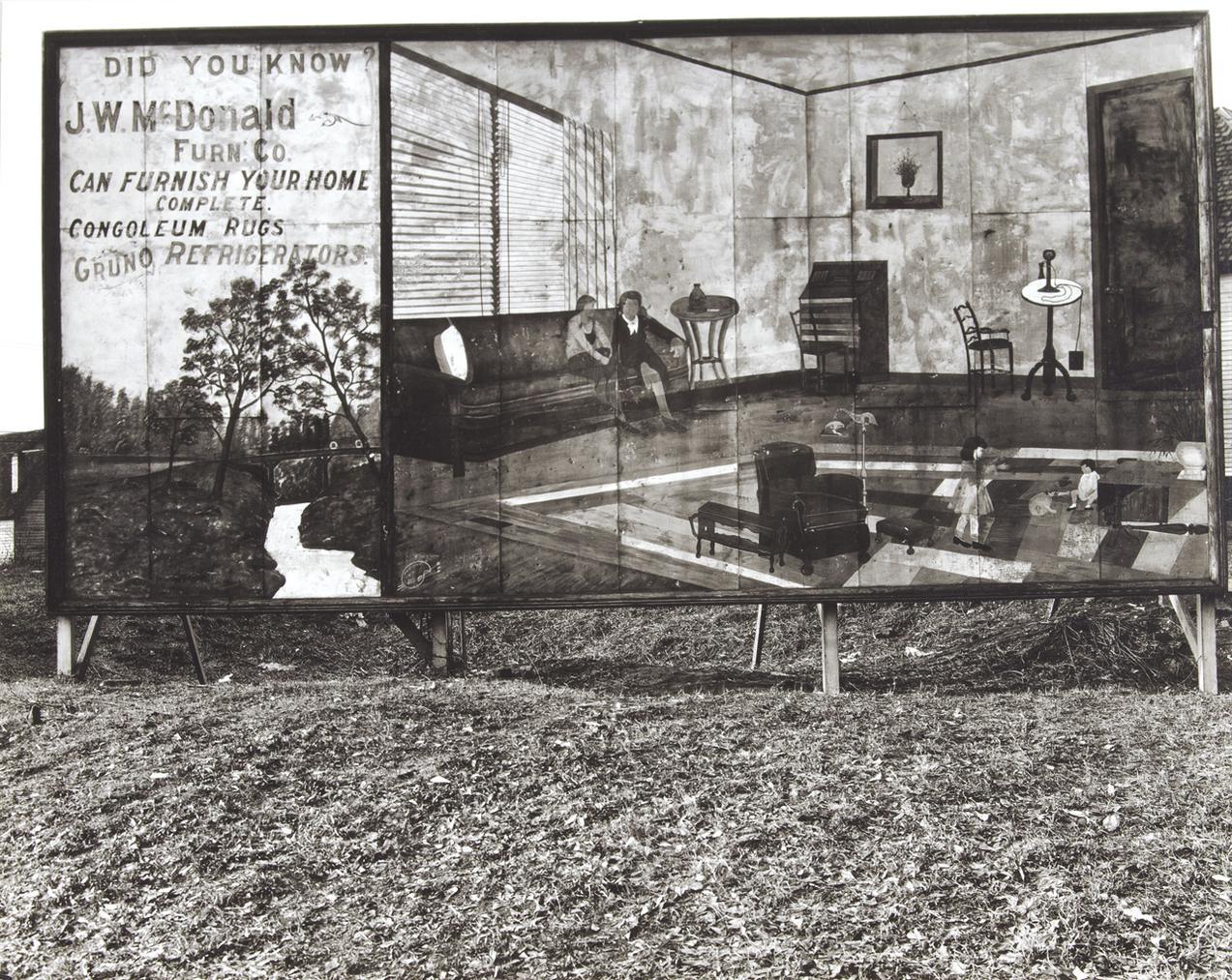 Walker Evans-Roadside Furniture Store Sign Near Birmingham, Alabama-1936