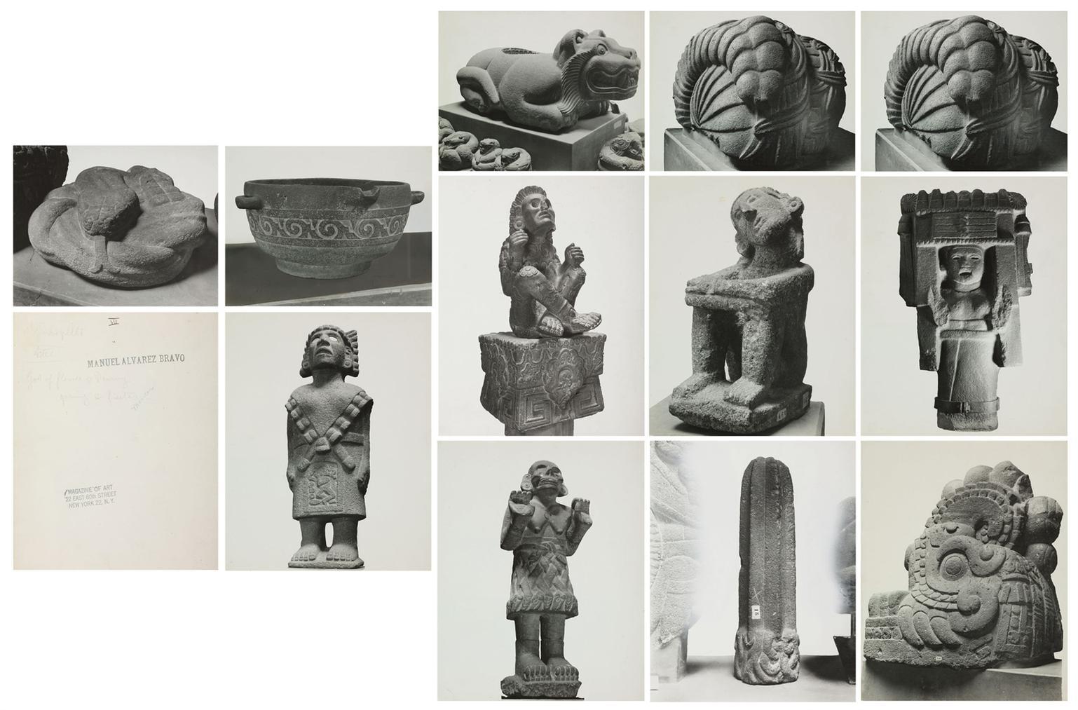 Manuel Alvarez Bravo-Aztec Artifacts, 1930S-1940s-