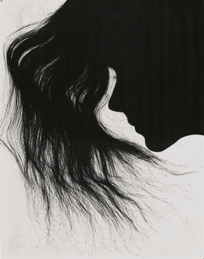 Fernand Fonssagrives-Hair In Silhouette, 1930s-