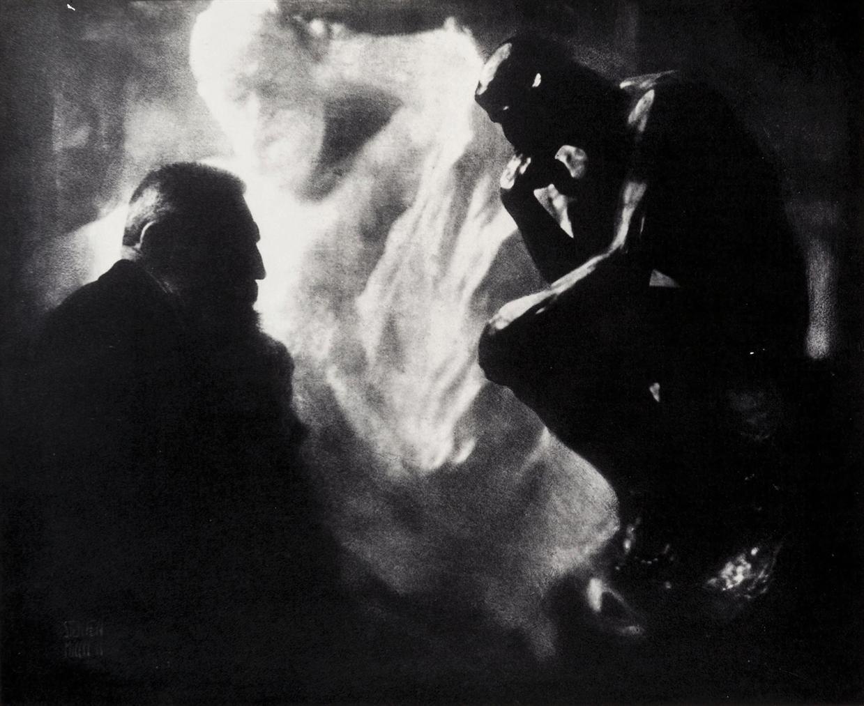 Edward Steichen-Rodin, Le Penseur, Paris-1902
