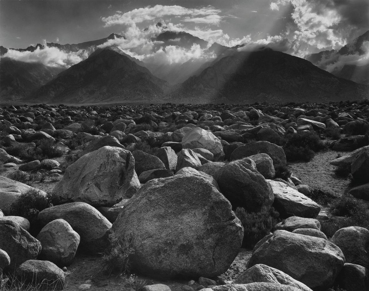Ansel Adams-Mount Williamson, Sierra Nevada, From Manzanar, California-1944