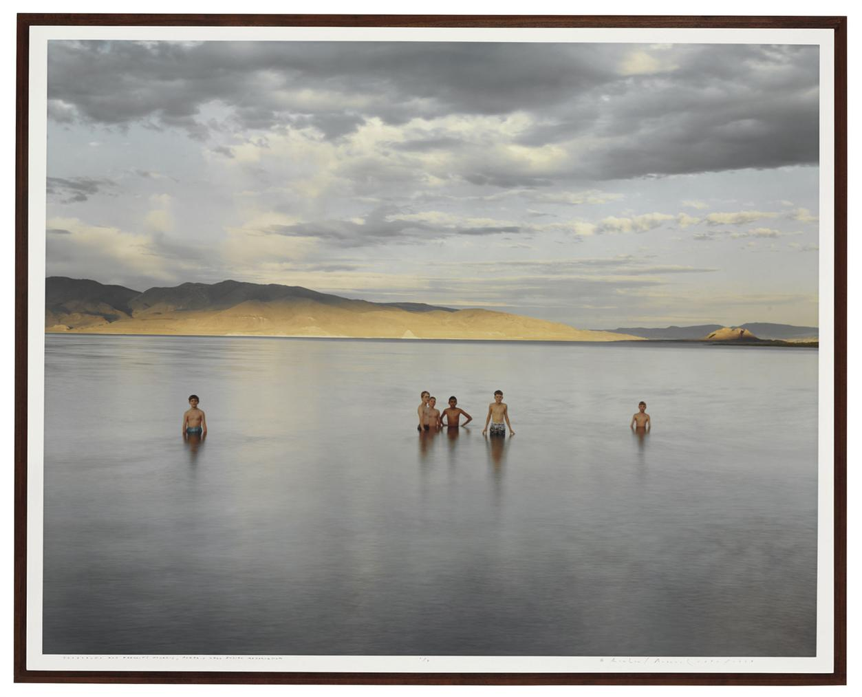 Richard Misrach-Boy Scouts And Fremonts Pyramid, Pyramid Lake Indian Reservation-1991