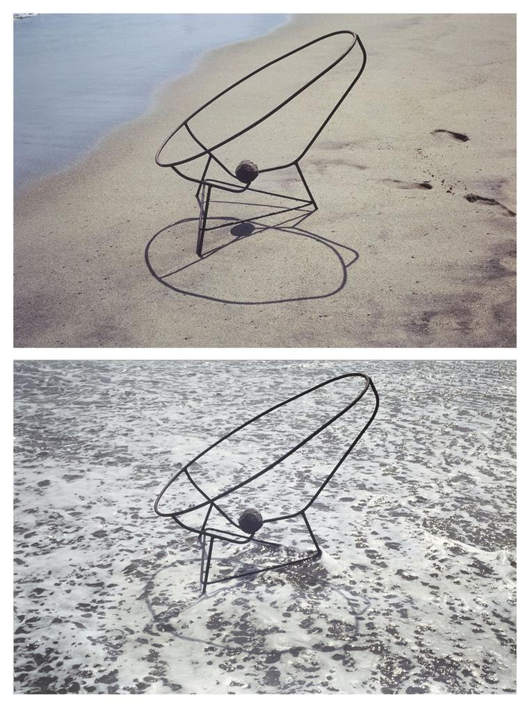 Gabriel Orozco-Sandball And Chair I And II-1995