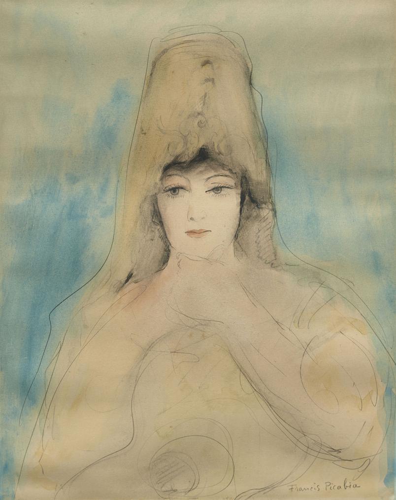 Francis Picabia-Femme A La Mantille-1926