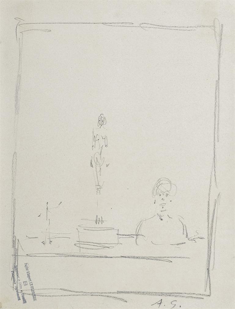 Alberto Giacometti-Sculptures Dans Latelier-1951