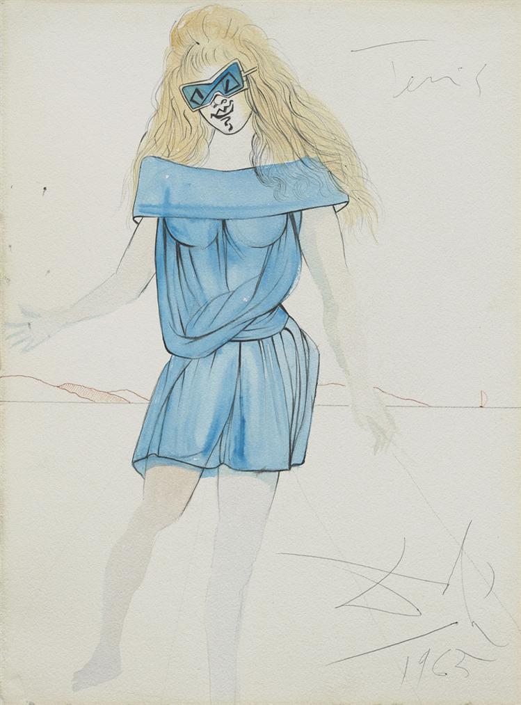 Salvador Dali-Tennis (Projet De Robe De Tennis)-1965