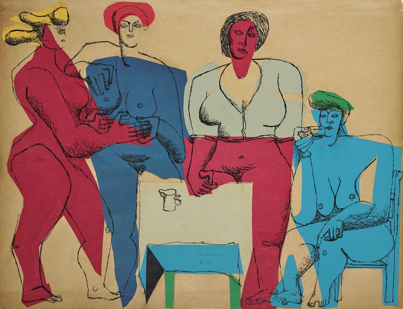 Le Corbusier-Quatre Femmes Autour Dune Table-1950