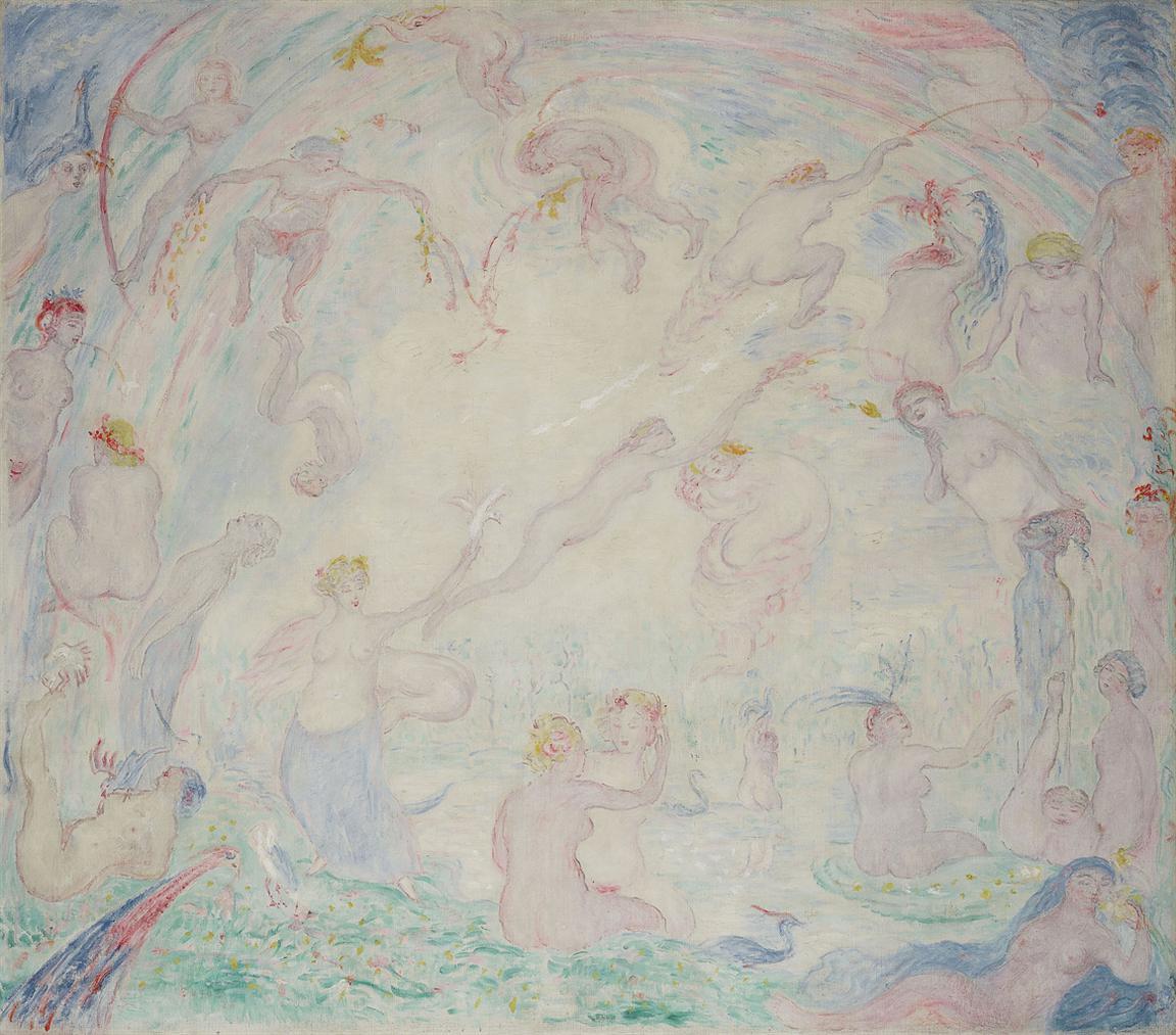 James Ensor-Gestes De Nymphes-1926