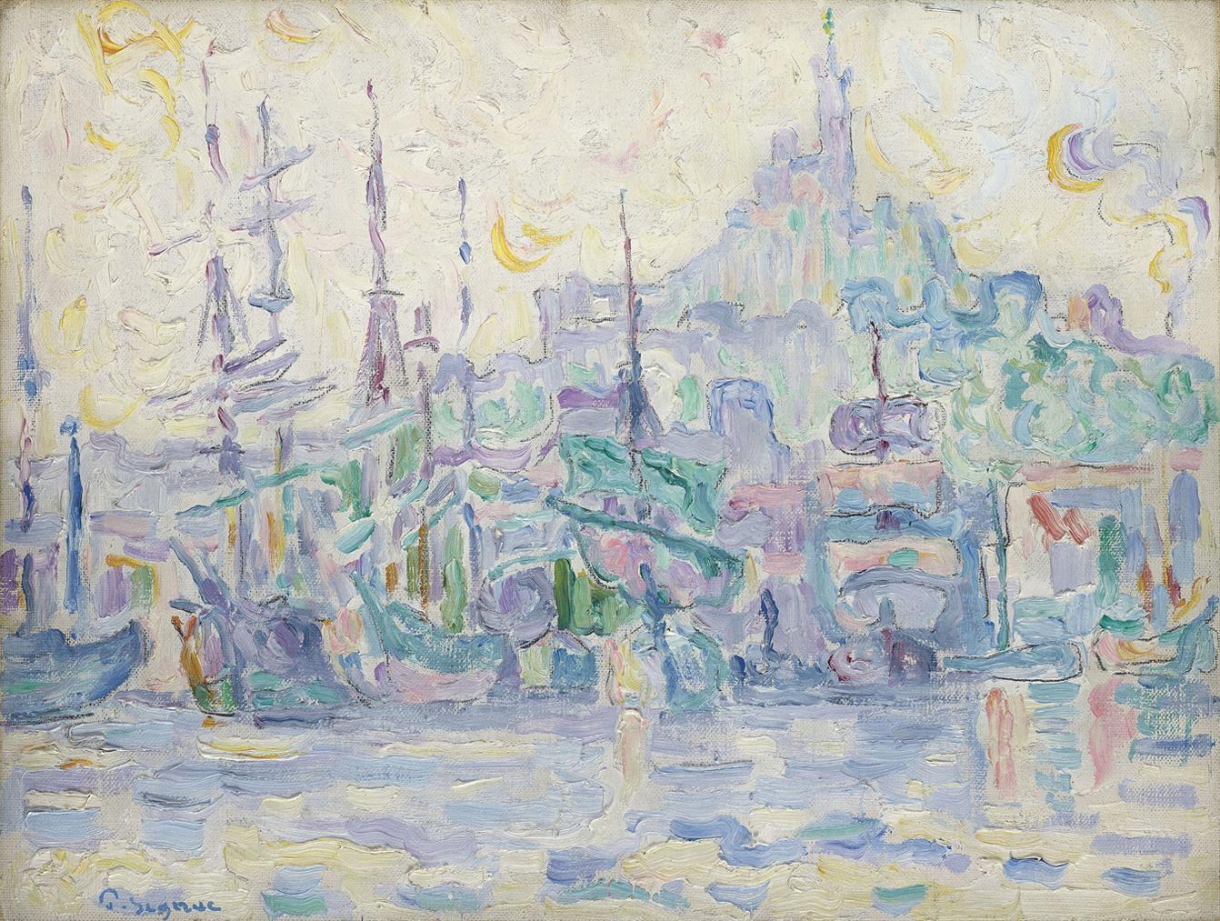 Paul Signac-La Bonne Mere, Marseille (Etude)-1907