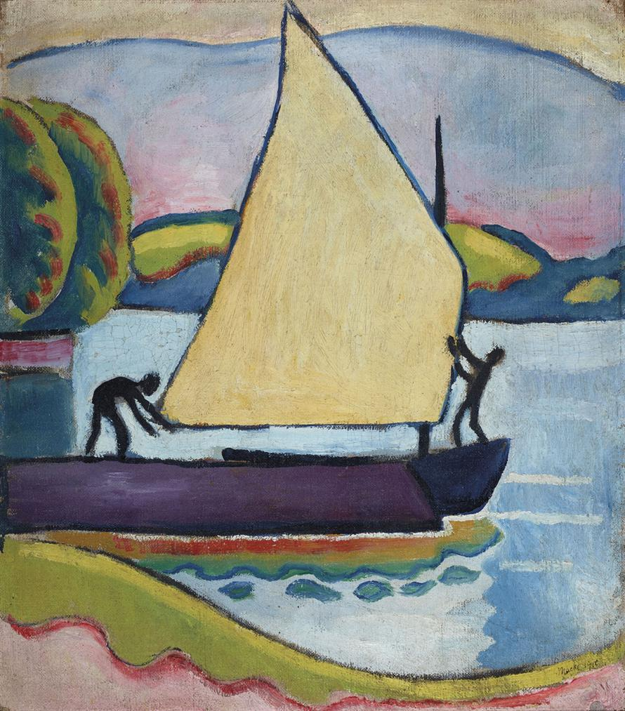 August Macke-Segelboot Am Morgen-1910