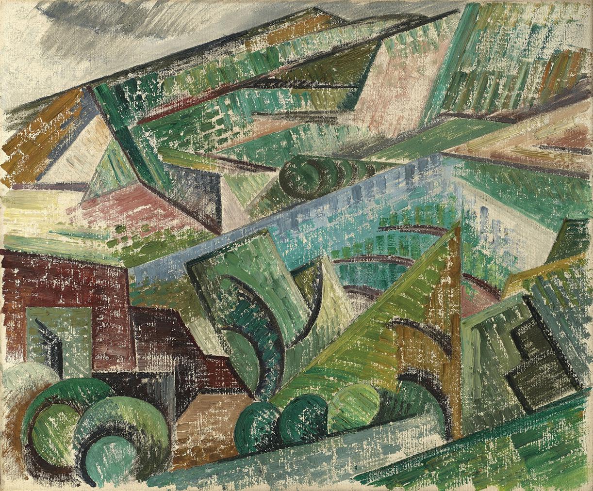 Auguste Herbin-Paysage Cubiste (Ceret)-1913