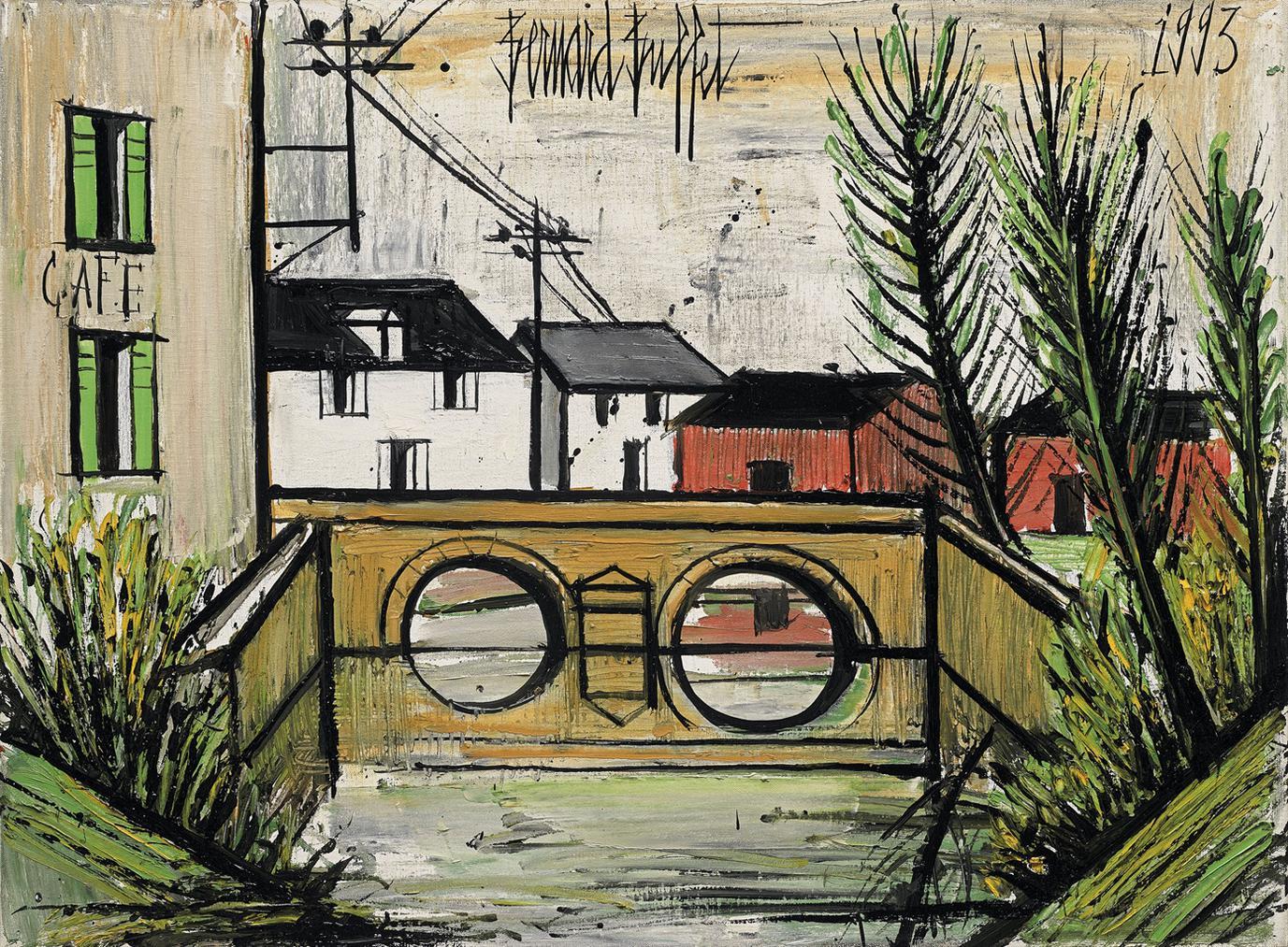 Bernard Buffet-Pont Dans Un Village-1993