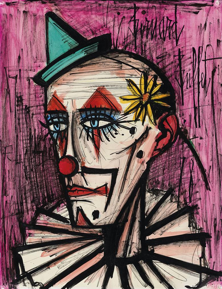 Bernard Buffet-Clown A La Marguerite-1978
