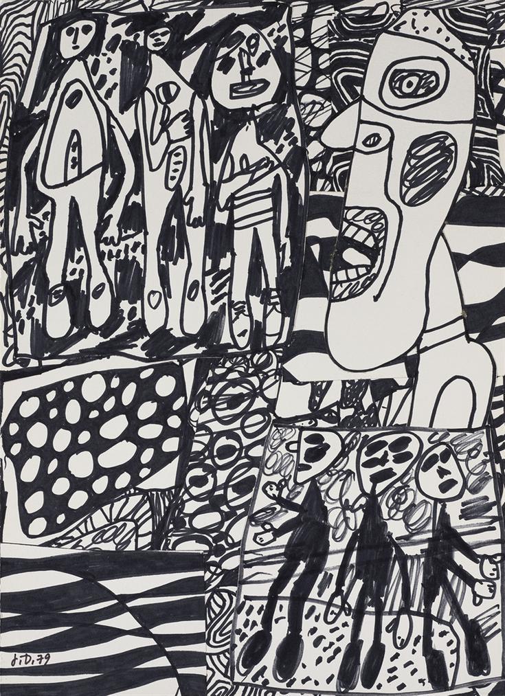 Jean Dubuffet-Situation LXXIII-1979