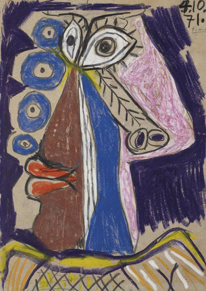 Pablo Picasso-Tete-1971