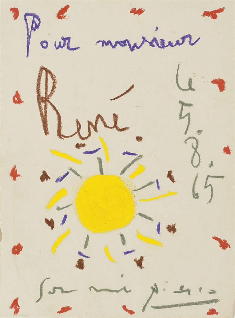 Pablo Picasso-Pour Monsieur Rene-1965