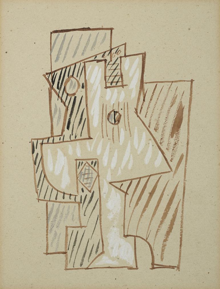 Pablo Picasso-Composition A La Guitare-1920