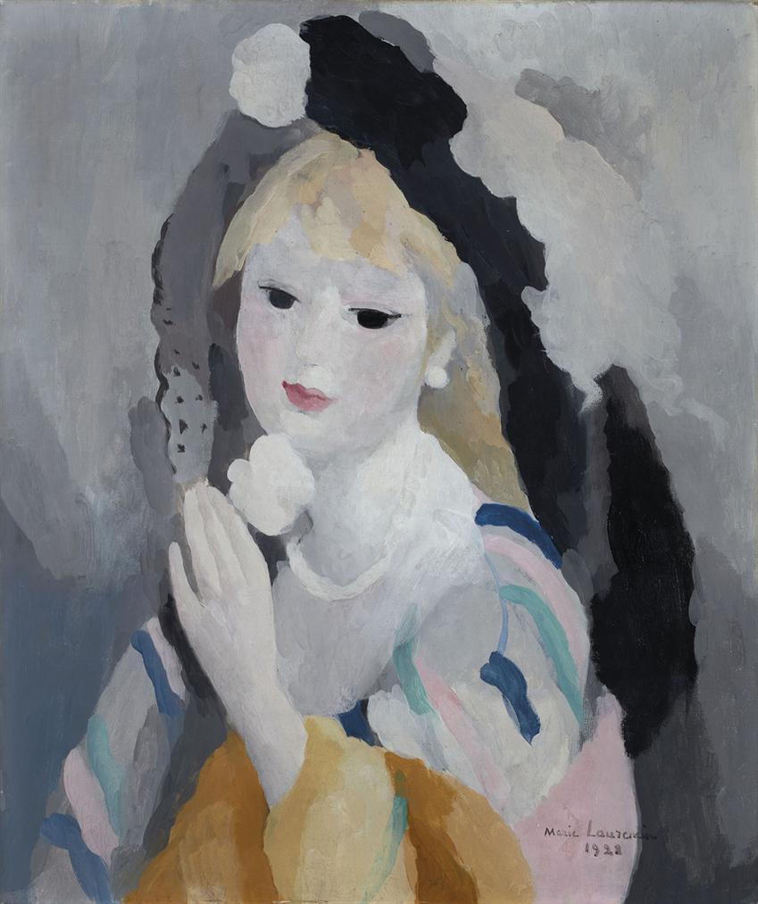 Marie Laurencin-Femme A La Rose Blanche-1928
