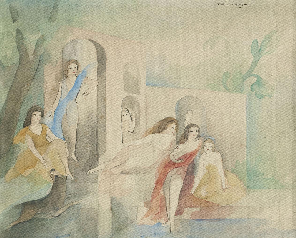 Marie Laurencin-Six Jeunes Filles Dans Un Parc-