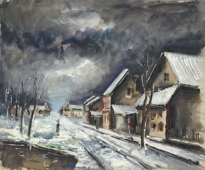 Maurice de Vlaminck-Village De Neige-1952
