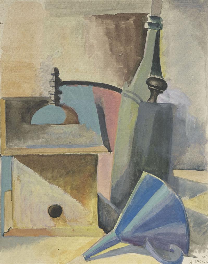 Andre Lhote-Nature Morte Au Moulin A Cafe-1918