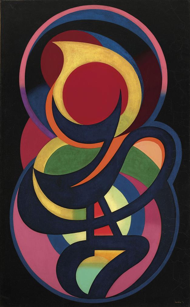 Auguste Herbin-Synchromie En Noir-1939