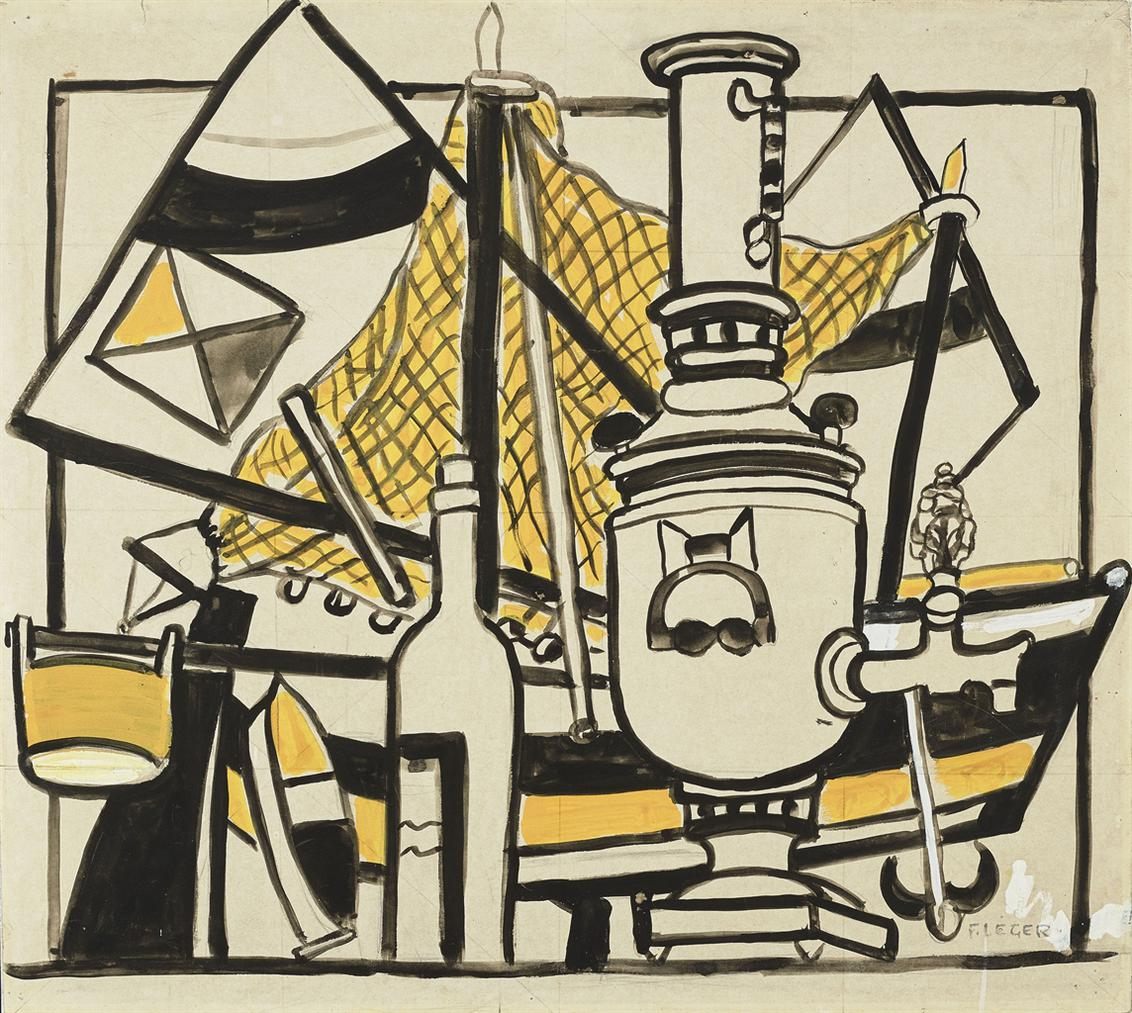 Fernand Leger-Nature Morte Au Samovar-1952