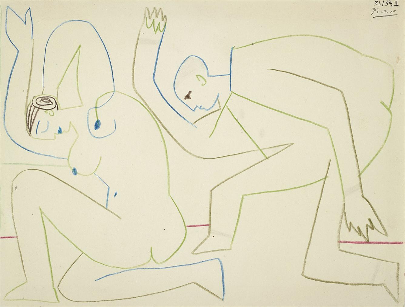 Pablo Picasso-La Repetition-1954