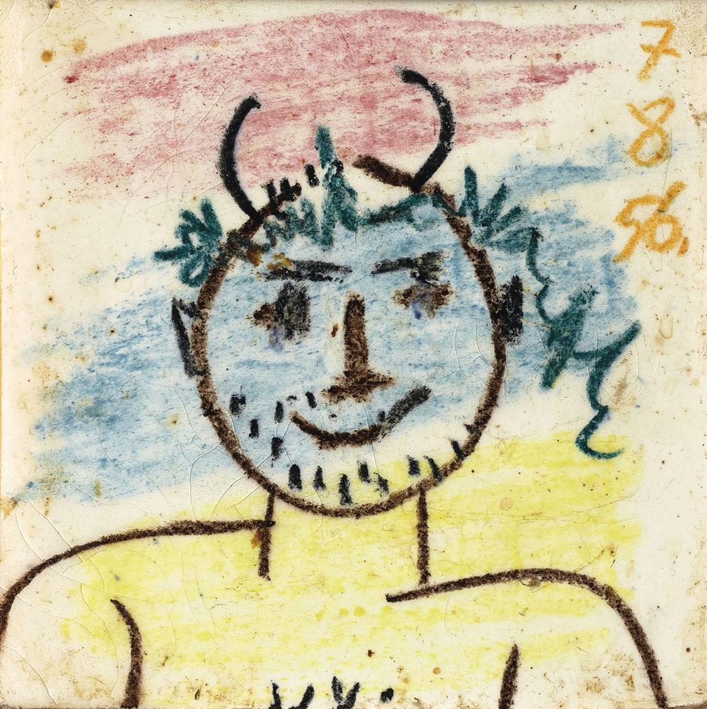 Pablo Picasso-Tete De Faune-1956
