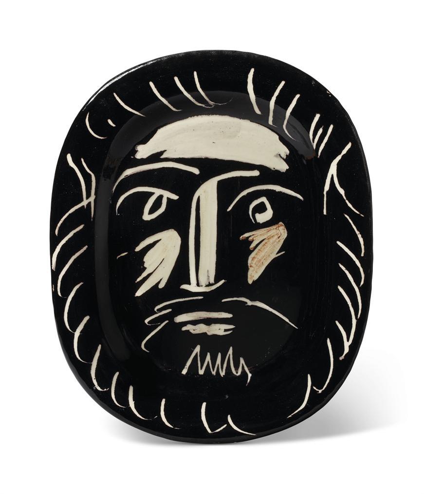 Pablo Picasso-Tete Dhomme (A.R. 203)-1953