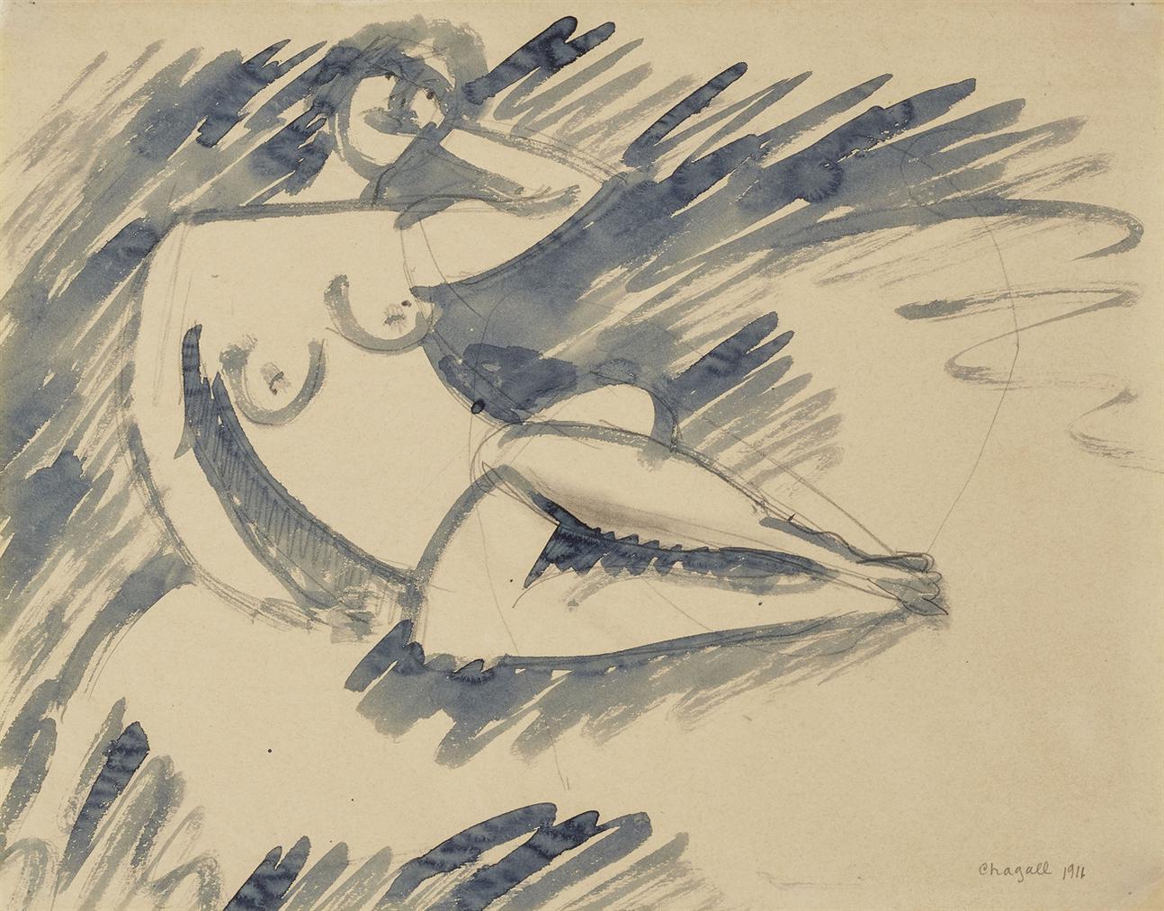 Marc Chagall-Nu-1911