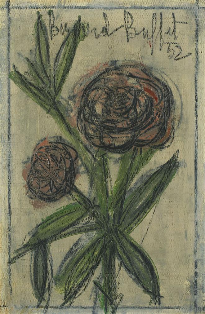 Bernard Buffet-Deux Petites Roses-1952
