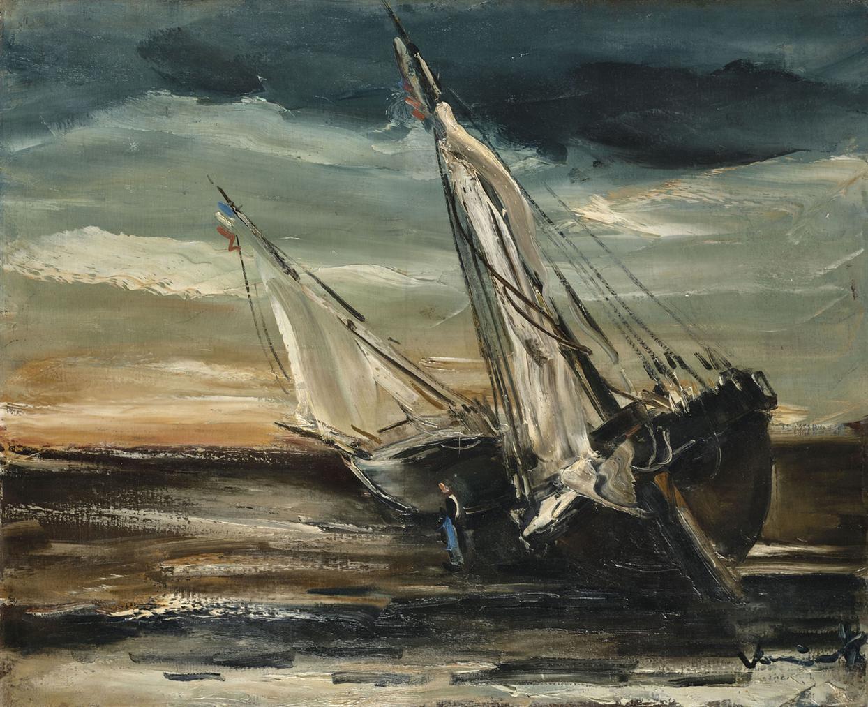 Maurice de Vlaminck-Barques Echouees-1935