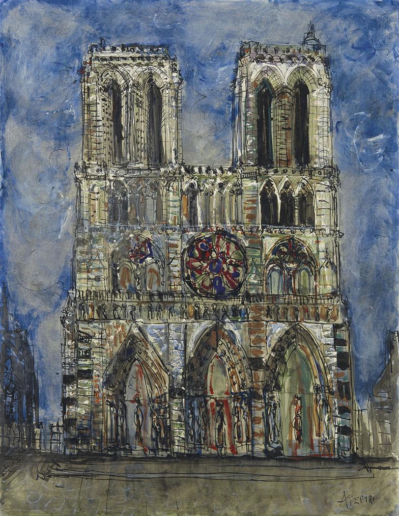 Paul Augustin Aizpiri-Notre-Dame De Paris-1950