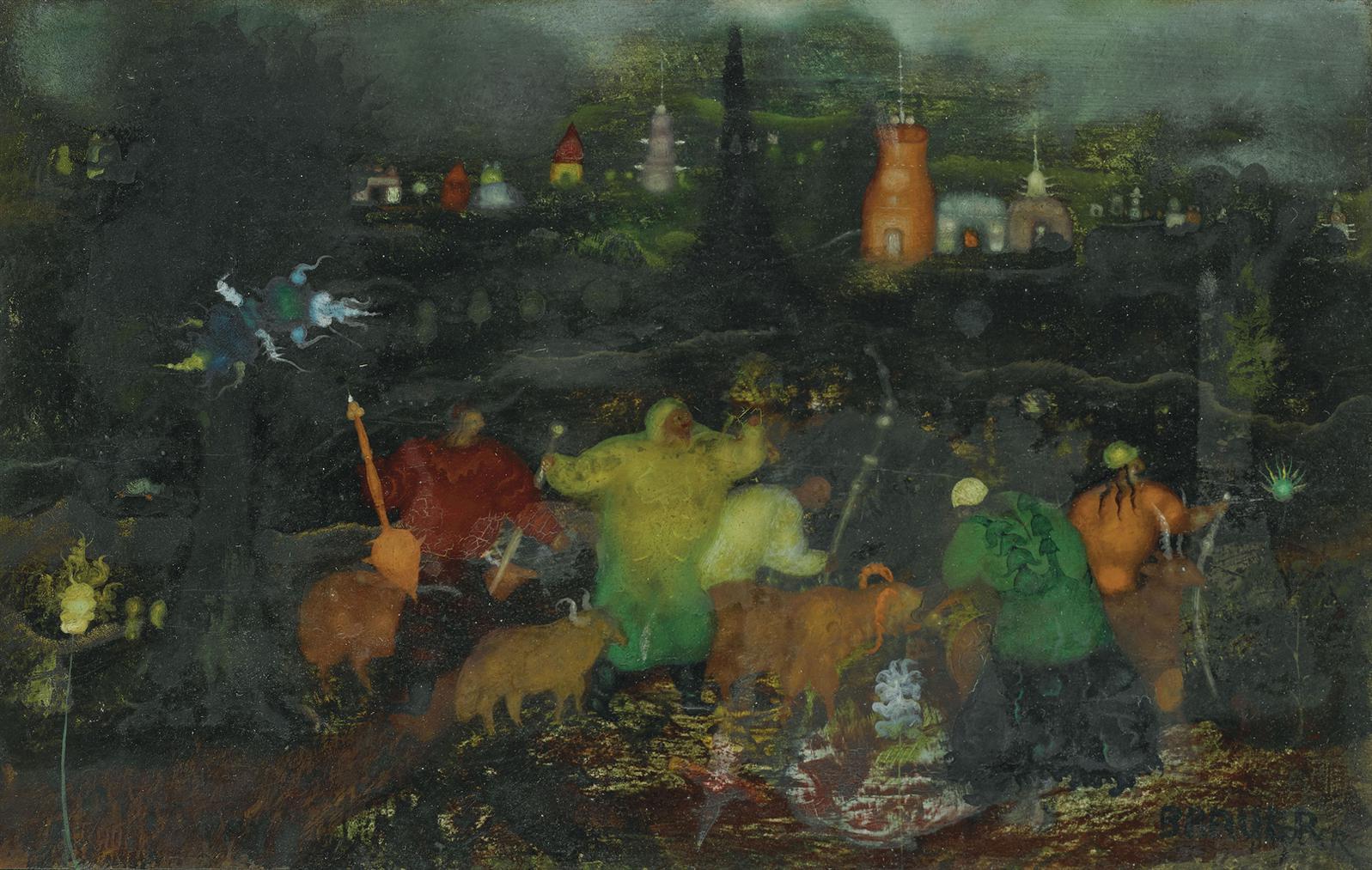 Arik Brauer - Schafer-1961